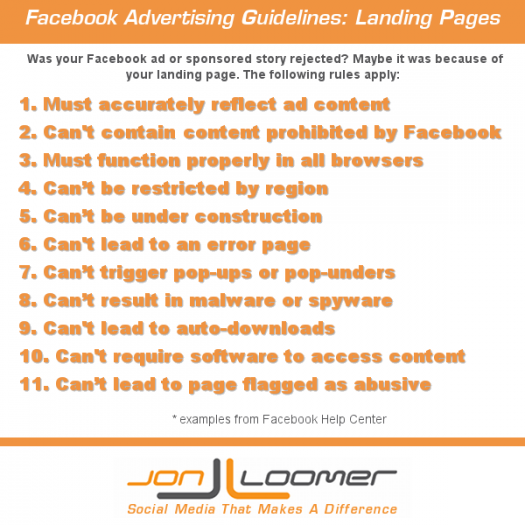 Facebook Advertising Guidelines: Landing Pages