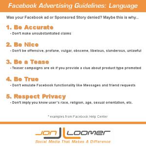 Facebook Advertising Guidelines Language