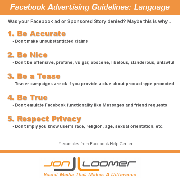 Facebook Advertising Guidelines Language