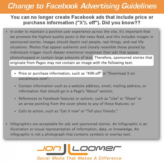 Facebook Advertising Guidelines Change: No to Discounts