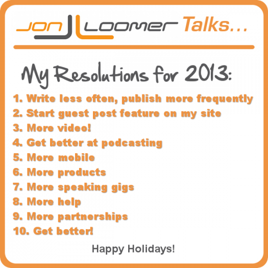 Jon Loomer Podcast Episode 28 Resolutions
