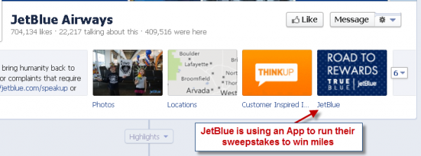 Jet Blue Airlines Facebook Contest