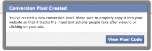 facebook conversion pixel created 300x101 facebook conversion pixel created