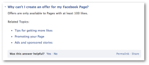 Facebook Offers 100 Likes