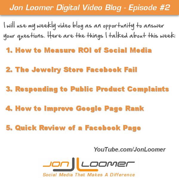 Jon Loomer Video Blog #2