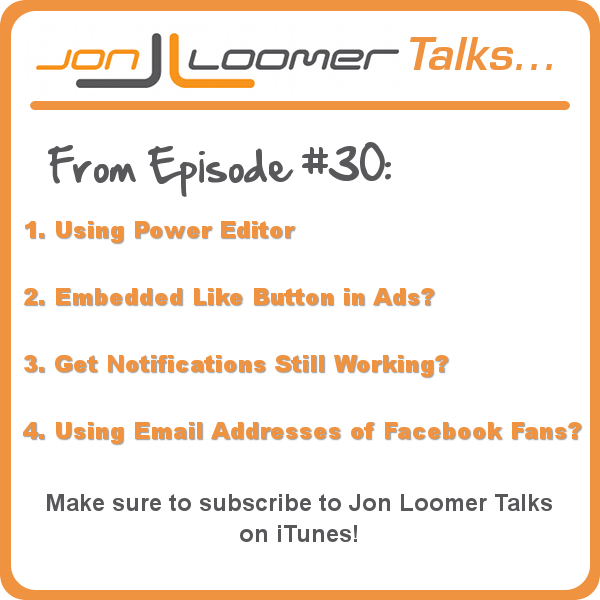 Jon Loomer Talks Podcast Episode 30