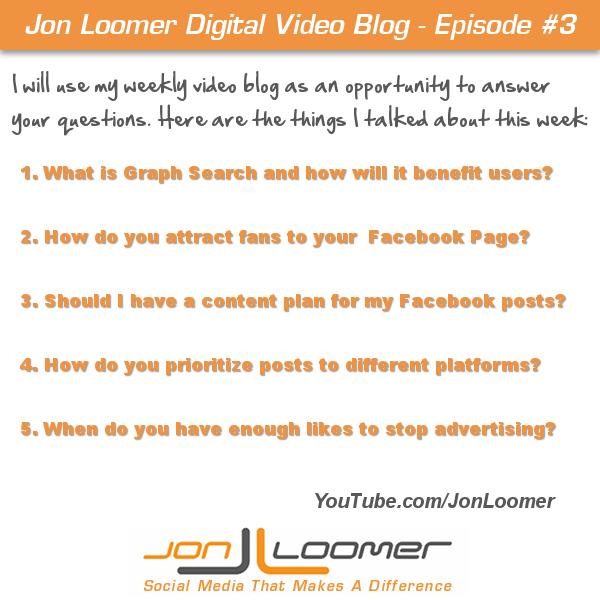 Jon Loomer Video Blog #3