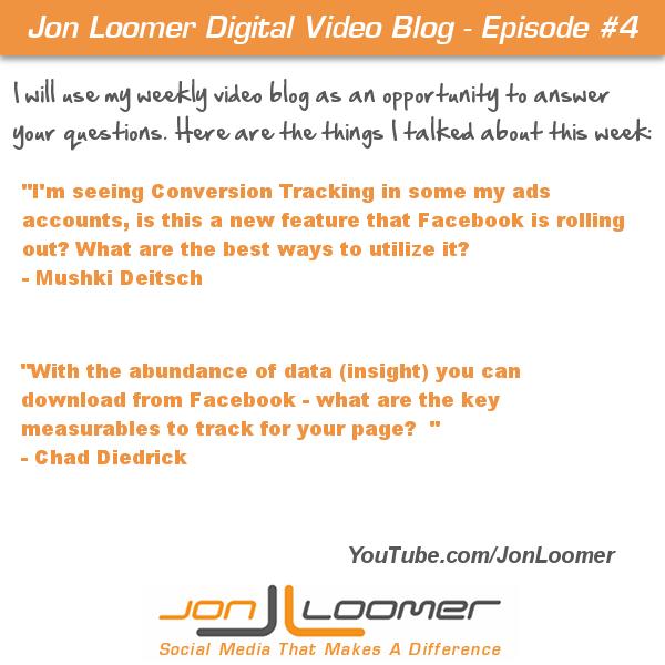 Jon Loomer VLOG 4