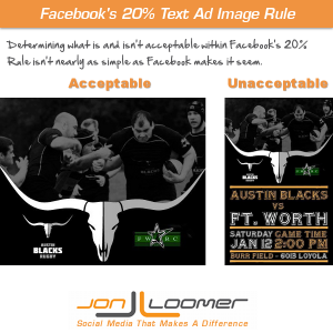 Facebook 20 Percent Text Ad image Rule