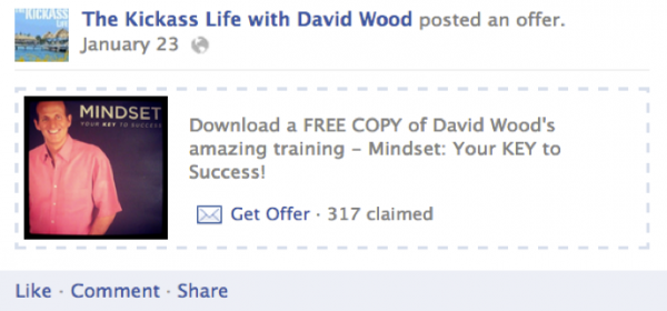 kickass life offer 600x280 How to Use Facebook Offers to Grow Your Email List