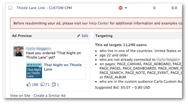 Link Share Rejected Facebook Ad