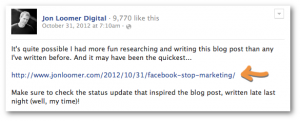 Facebook Status Update Link Share