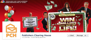 Publishers Clearing House Facebook Page