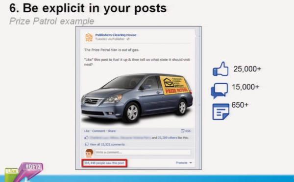Facebook Post 'via Publisher'