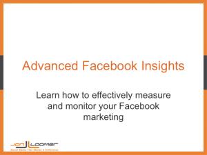 Advanced Facebook Insights Webinar