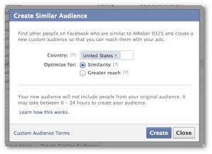 Facebook Create Lookalike Audience Power Editor
