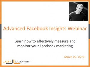 Facebook Insights Webinar by Jon Loomer