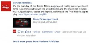 Post via 'Verizon Publisher'