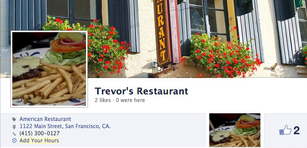 Trevors restaurant cover