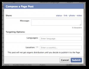 Compose Facebook Unpublished Post