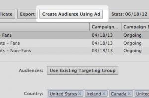 Create Audience Using Ad Facebook Power Editor