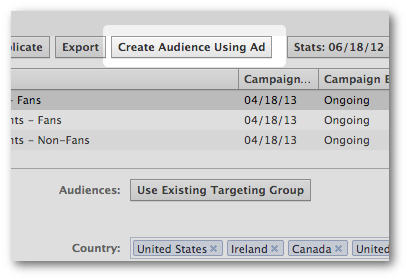 Create Audience Using Ad Facebook Power Editor