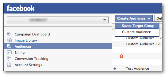 Create Saved Audience Facebook Power Editor