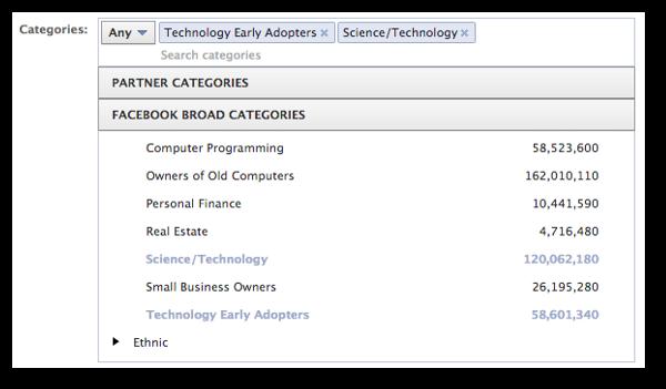 Facebook Broad Categories