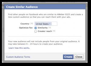 Facebook Create Similar Audience