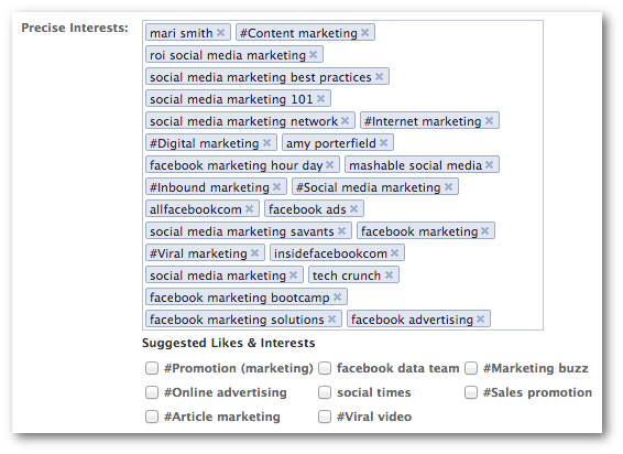facebook precise interests 11 Powerful Ways to Increase Relevant Facebook Likes with Ads