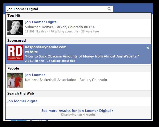 Facebook Sponsored Search Jon Loomer Digital