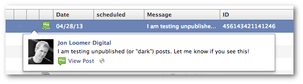 facebook unpublished post view Facebook Ads Tip: How to Create a Dark or Unpublished Facebook Post