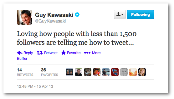 Guy Kawasaki 1500 Followers