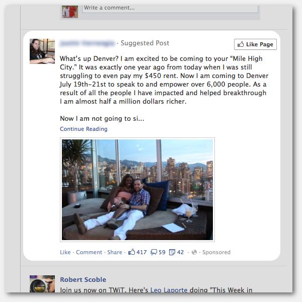 Facebook News Feed Ad