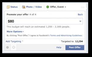 Facebook Offer no Promote Later Option