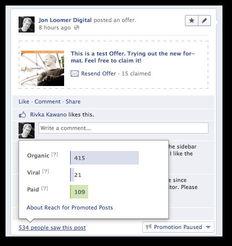 Facebook Offer Other Promotion