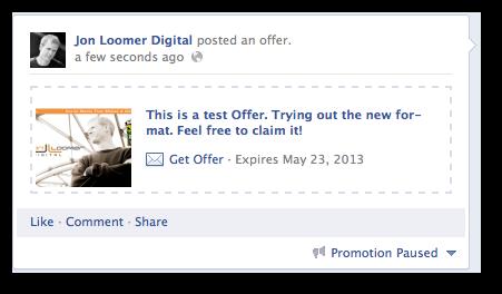 Facebook Offer Test