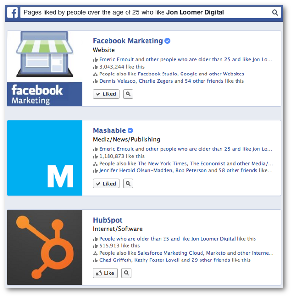 Facebook Graph Search Age