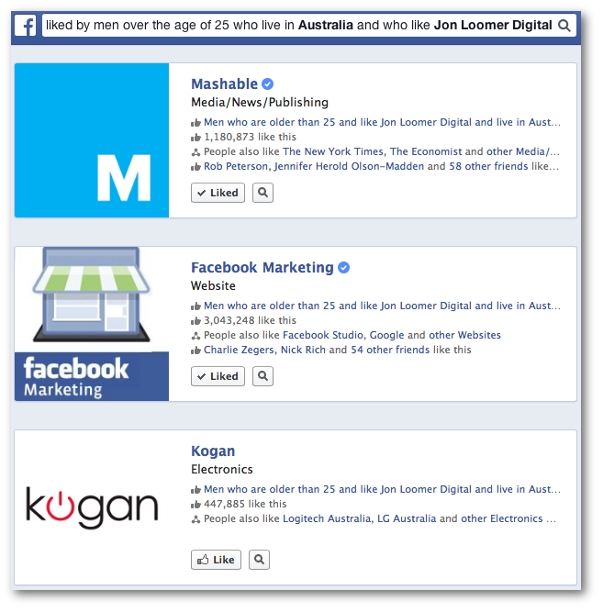 Facebook Graph Search Four Qualifiers
