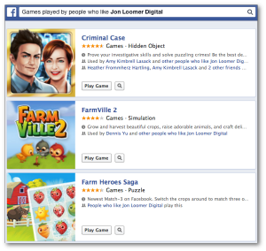 Facebook Graph Search Games Played