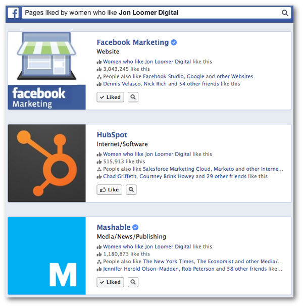 Facebook Graph Search Gender