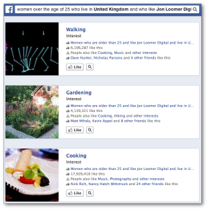 Facebook Graph Search Interests Four Qualifiers