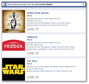Facebook Graph Search Movies Liked