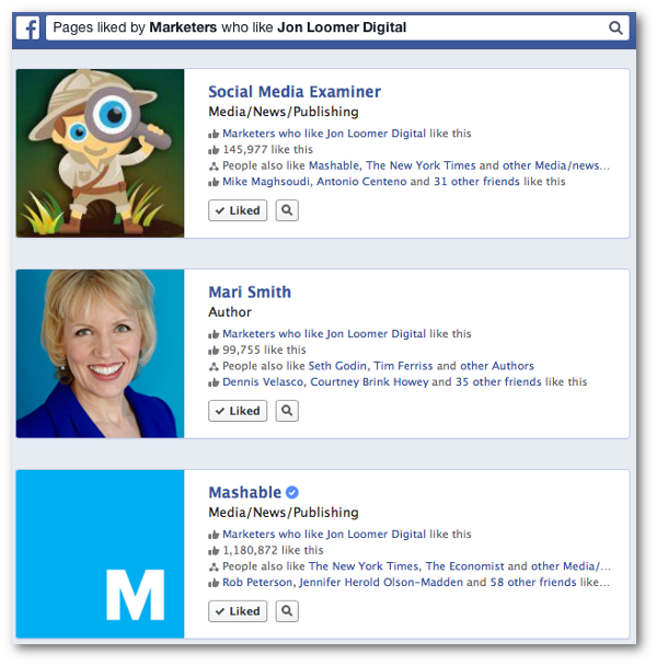 Facebook Graph Search Occupation