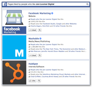 Facebook Graph Search Pages Liked