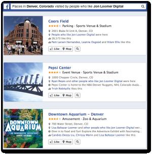 Facebook Graph Search Places