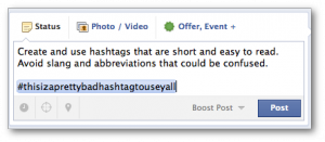 Facebook Hashtags Short