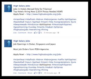 Facebook Hashtags Spam