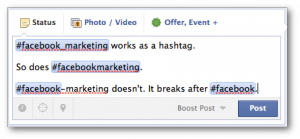 Facebook Hashtags Special Characters