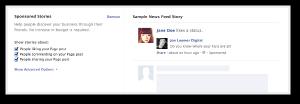 Facebook Sponsored Stories Self Serve Ad Tool